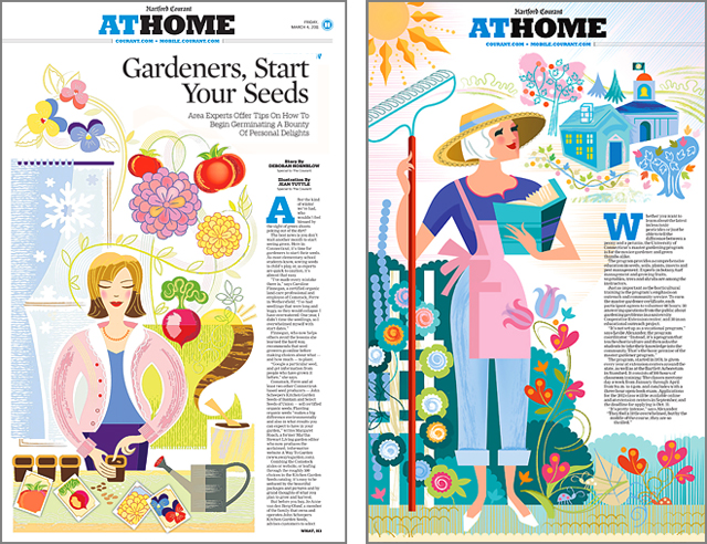 Hartford Courant Home Section Illustrations
