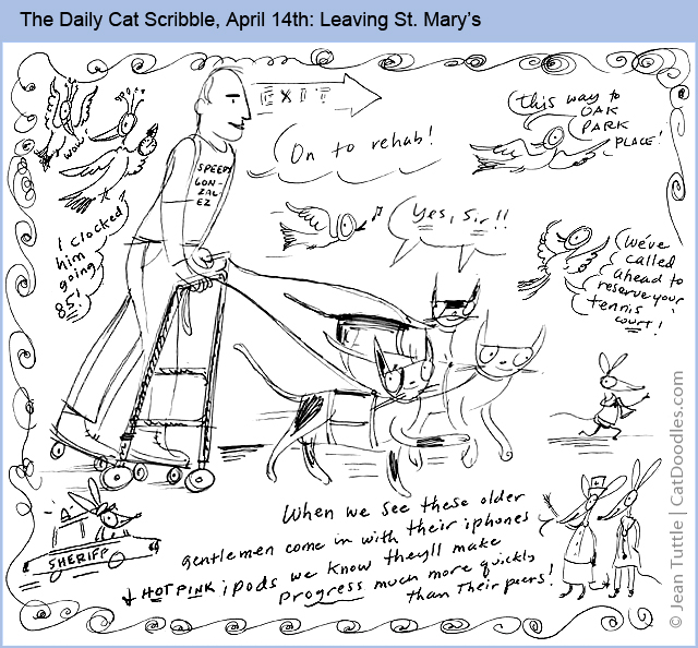 The Daily Cat Scribble April 14th: Leaving St. Mary's