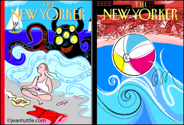 Jean Tuttle New Yorker Cover Concepts Beach 1